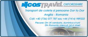 Transport de persoane Anglia Romania